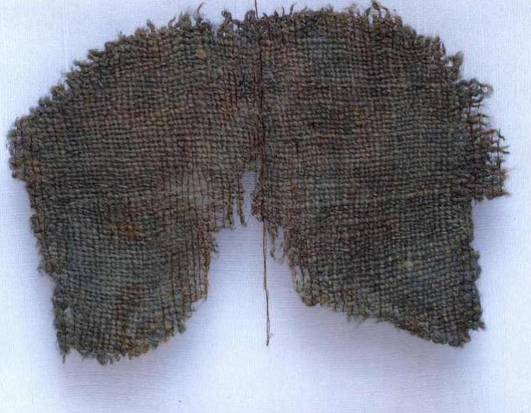 Фрагмент текстильного изделия. Городище Мангазея XVII век. Шерсть, ткачество